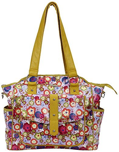 Bellotte Designer Tote Diaper Bag, Flowers