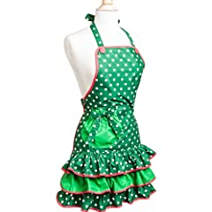 Flirty Aprons Womens Apron Holiday - Mistletoe