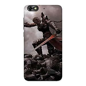 Ajay Enterprises Warrior Sword Multicolor Back Case Cover for Honor 4C