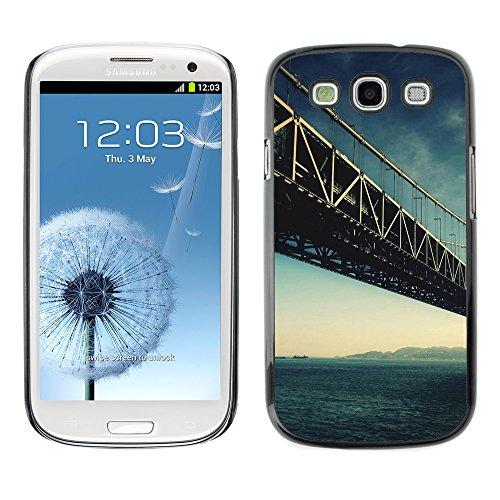 Qcase Slim Pc / Aluminium Sleek Case Cover Armor Shell -- Architecture San Francisco Bridge -- Samsung Galaxy S3