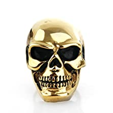 buy Copaul Jewelry Men'S Stainless Steel Skull Rings High Polished Gold Color Size7