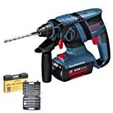 BOSCH GBH 36V-LI Cordless 36V SDS-Plus Rotary Hammer Drill With WDCS 13 Piece SDS + Drill and Chisel Set