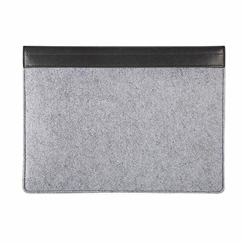 iPad Pro Hülle, EasyAcc iPad Pro 12,9 Zoll Filz Sleeve Tablet Tasche für Apple iPad Pro 2015 Modell 12,9 Zoll Perfekt Geeignet - Grau (Dimension: 340 x 245 x 15mm)