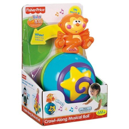 Fisher-Price Go Baby Go! Crawl-Along Musical Ball - 1