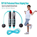 TOP YAO Crossfit Digital Cordless Skipping Rope Best Training Tool for Workouts Jump Snap Wireless Jumping Rope Calorie and Jump Counter Weight Loss and Muscle Gain Equipment