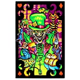Alice in Wonderland Mad Hatter Collage Flocked Blacklight Poster Art Print (DESIGN 1, 1)