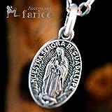 ルード系 グアダルーペの聖母・マリア/天使の祝福メダイ 艶消しマット仕上げ メンズ&レディース シルバー925 ペンダント ネックレス