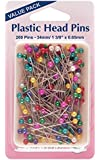 Pins 34mm: Extra Value Plastic Coloured Heads