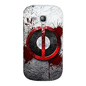 Gorgeous Bleed Dead Multicolor Back Case Cover for Galaxy S3 Mini