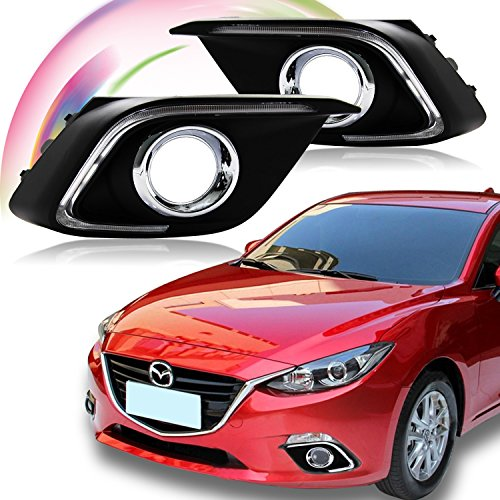 Win Power Waterproof Daytime Running Light DRL Fog Lamp Kit for 2014 2015 2016 Mazda 3 Axela + Error-Free Canbus- 1 Year Warranty(1 Pair) (Mazda 3 Fog Lamp compare prices)