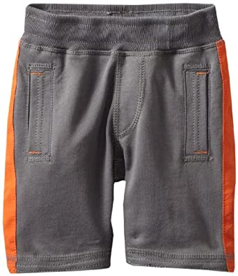 Tea Collection Little Boys' Side Stripe Gym Shorts, Thunder, 8