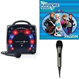 Singing Machine SML283BK CDG Karaoke Player (Black) With Disney's Frozen Karaoke CD, and Extra Microphone Bundle