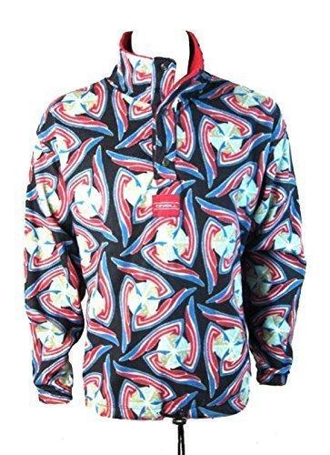 O ' Neill Polar piume Jumper Maglione in pile giacca - Jazz nero/rosso/colore blu (misure - grande