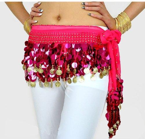 belly hip scarves Big Saving Belly Dance Hip Scarf , Gold Coins Wave ...