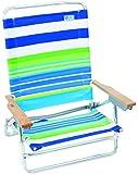 Rio Brands 5 Position Classic Lay Flat Beach Chair