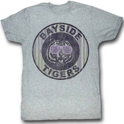 Saved By The Bell Pinstripe Bayside Adult T-Shirt Tee