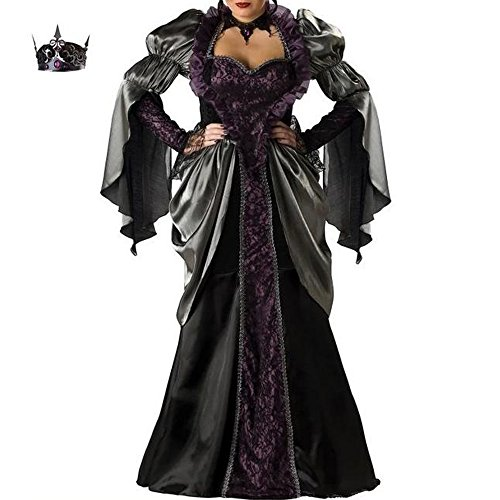 Women'ss Black Robe Vampire Costume Cosplay Dress