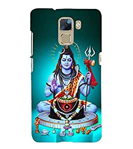 Lord Shiva Cute Fashion 3D Hard Polycarbonate Designer Back Case Cover for Huawei Honor 7 :: Huawei Honor 7 Enhanced Edition :: Huawei Honor 7 Dual SIM