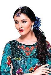 JCM Krishriyaa Women's Blue Cotton Straight Kurti With L Size
