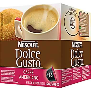 Dolce Gusto - Coffee Capsules, Americano, 1.86 Oz., 16 Per Box - Sold As 1 Box - Coffee House Quality By The Cup. front-442993