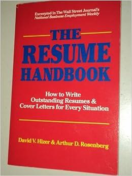 Handbook outstanding resume write