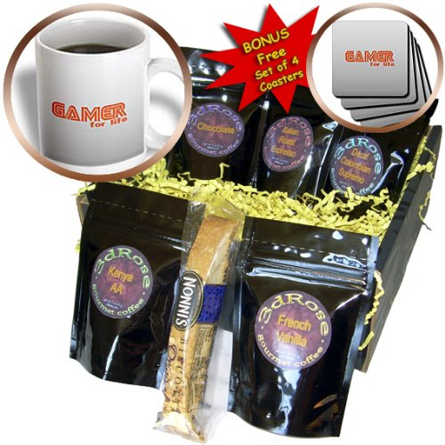 Cgb_12447_1 Deniska Designs Wow - Gamer For Life On Gray - Coffee Gift Baskets - Coffee Gift Basket