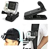 ATian 360' Rotary Backpack Hat Rec-Mounts Clip Fast Clamp Mount for GoPro Hero 2 3 3+