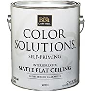 Color Solutions Self-Priming Latex Interior Ceiling Paint-FLAT WHITE CEILING PAI