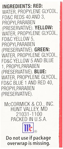 Mccormick Food And Egg Coloring Dye 4 Colors Food Beverages Tobacco