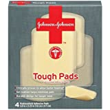 Johnson & Johnson Tough Pads, 4-Count Pads (Pack of 4) ~ J&J Red Cross
