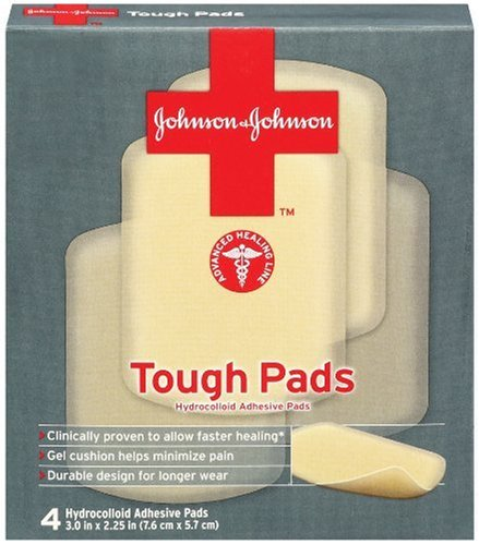 Johnson & Johnson Tough Pads, 4-Count Pads (Pack of 4)