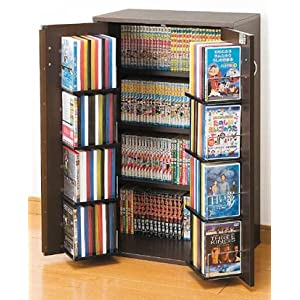 鍵付き収納名人(DVD・ビデオ・コミック本・CDなど) 幅59.5cm