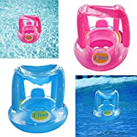 Magideal Inflatable Baby Float Seat Boat Beach Car Sun Shade Water Swim Blue