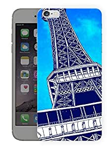"Humor Gang Paris Eiffel Tower Caricature Printed Designer Mobile Back Cover For ""Apple Iphone 6 PLUS - 6S PLUS"" (3D, Matte, Premium Quality Snap On Case)"