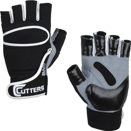 Cutters Half-Finger Lineman (Black, XX-Large)