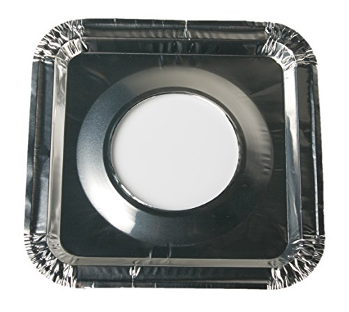 45 PC Aluminum Foil Square Gas Burner Bibs Range Protectors Disposable Liner Covers Stove Guard Easy Clean - Silver (8.5