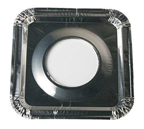45 PC Aluminum Foil Square Gas Burner Bibs Range Protectors Disposable Liner Covers Stove Guard Easy Clean - Silver (8.5