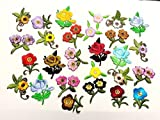 10 Iron On Stick Sew On Fabric Flower Motifs Craft Sewing Embroidery Patches