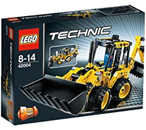 LEGO Technics - Mini Backhoe Loader - 42004 42004 (Make any job easier with the iconic Mini Backhoe Loader! This 2-in-1 LEGO® Technic model features loads of realistic details, like raising/lowering front arm and tipping front bucket, articulated steerin
