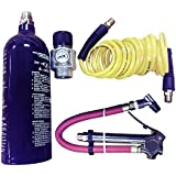 Interstate Pneumatics WRCO2-TF2 CO2 Regulator, Recoil Hose, TF3135 Tire Inflator and 20 Oz. CO2 Cylinder