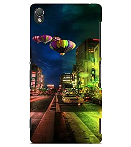 PrintVisa Travel City Hot & Sexy Balloon 3D Hard Polycarbonate Designer Back Case Cover for Sony Xperia Z3 Mini