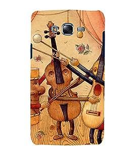 printtech Wooden Music Guitar Back Case Cover for Samsung Galaxy J7 / Samsung Galaxy J7 J700F