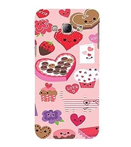 EPICCASE Love n Cake Mobile Back Case Cover For Samsung Galaxy A5 (Designer Case)