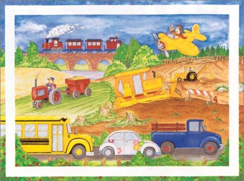 "Art 4 Kids ""Cars Trucks Aeroplane"" Mounted Art Print, 24""X18"" front-813181"