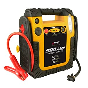 Wagan 900 Amp Battery Jumper with Air Compressor by Wagan