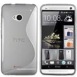 """mumbi TPU Schutzh�lle HTC One H�lle Welle transparent schwarz (NICHT HTC One M8)von """"mumbi"""""""