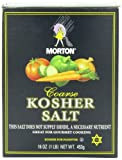 Morton Coarse Kosher Salt, 1 Pound (Pack of 12)