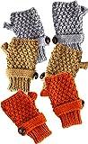Marrón diseño de la naranja mecánica y de gotas de destello de luz de color gris de botones en forma de juego de pinceles de fibra en forma de 3 dedos al punto con pom y guantes de Defensor para fútbol