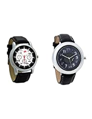 Gledati Men's Black Dial And Foster's Women's Black Dial Analog Watch Combo_ADCOMB0001839