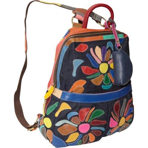 AmeriLeather Mini-Carrier Backpack (Rainbow)